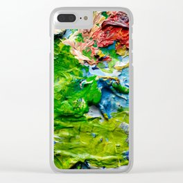 Artist palette with colorful paint spots Clear iPhone Case