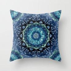Lapis Lazulli Mandala Throw Pillow