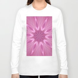 Sweetly Soft Pink Girly Kaleidoscope Long Sleeve T-shirt