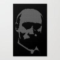 putin Canvas Prints featuring Putin by Galza Ascii Art