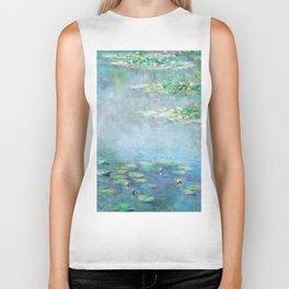 Monet Water Lilies / Nymphéas 1906 Biker Tank