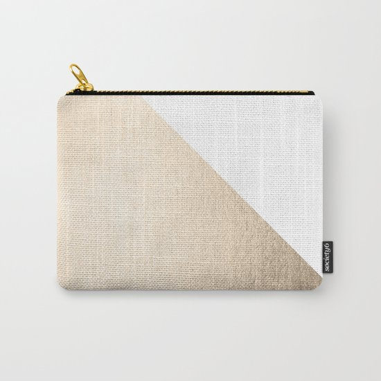 Simply Shadow in White Gold Sands Carry-All Pouch