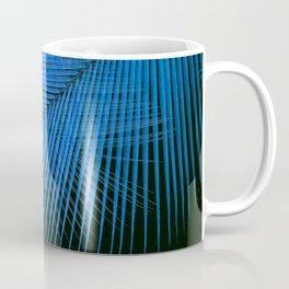 Palm leaf synchronicity - metallic blue Coffee Mug