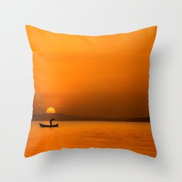 Jinja Sunrise Throw Pillow
