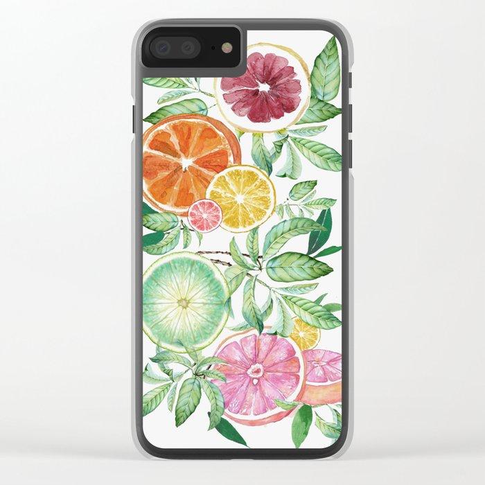 Citrus Fruit Clear iPhone Case