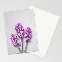 Pink Hyacinths Stationery Cards