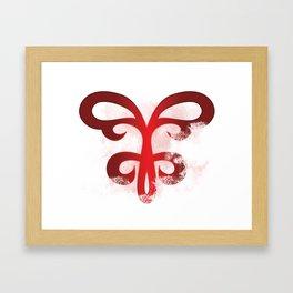 Hisame Artwork logo merchandise Framed Art Print