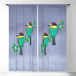 Two bee eaters Blackout Curtain