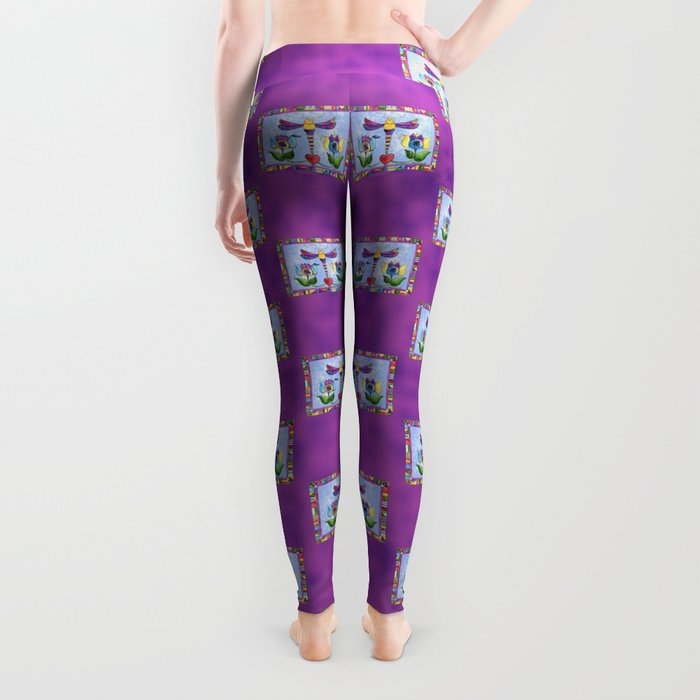 Dragonfly Love with Border Leggings