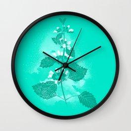 Illustration of the plant Lemon Balm (Melissa officinalis) Wall Clock