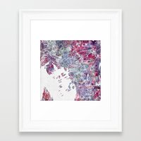 oslo Framed Art Prints featuring Oslo Map by MapMapMaps.Watercolors
