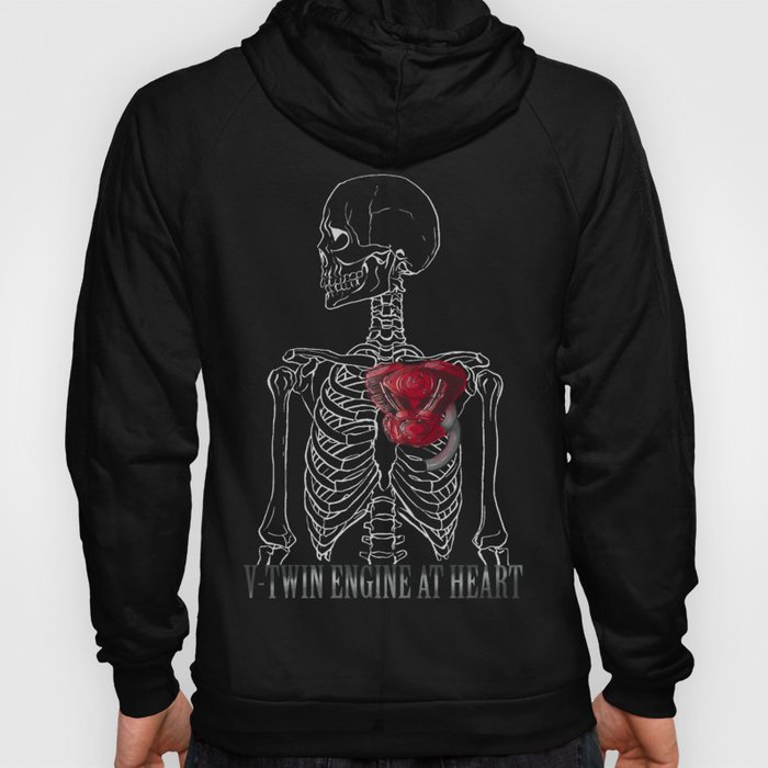 V-Twin Engine at Heart_Black Hoody