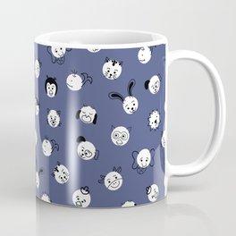 Kids Animal Polka Dots Blue White Coffee Mug