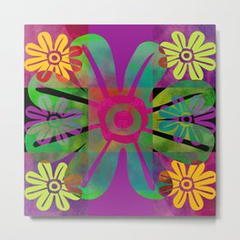 Paracas flowers II Metal Print