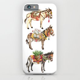 Nepal Donkeys iPhone Case