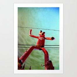 Attack of the 50ft Muffler Man Art Print