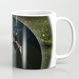 Battle over Blue Planet Coffee Mug