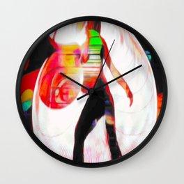 Blacklight Graffiti Wall Clock