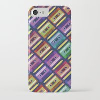 90s iPhone & iPod Cases featuring 90s pattern by Gabor Nemethi
