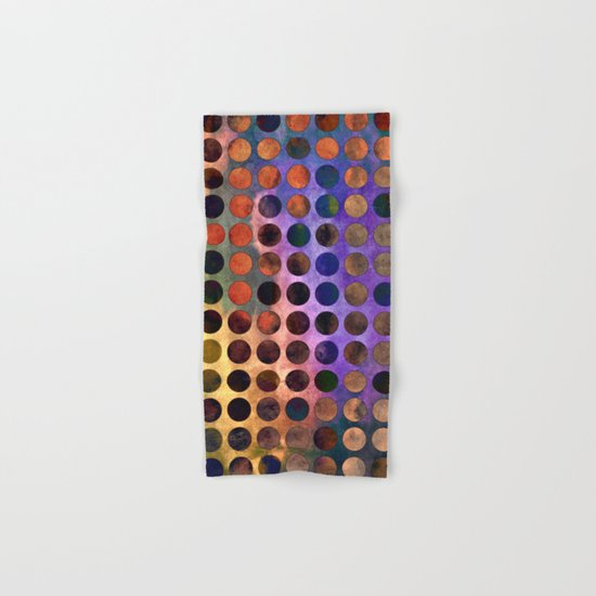 MELANGE of VIOLET and RUST Hand & Bath Towel