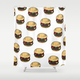 BURGERS Shower Curtain