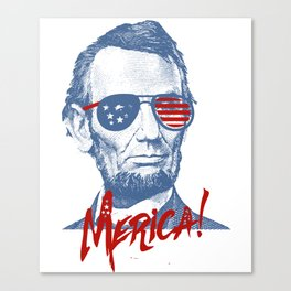Abraham Lincoln Merica design - NYE of 4th July Clothing Canvas Print