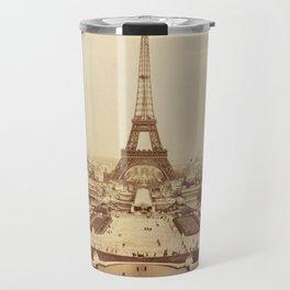 Eiffel Tower and Champ de Mars 1889 Paris Travel Mug