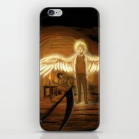 good omens iPhone & iPod Skins featuring Good Omens: Too Fine a Point by Katerina Romanova