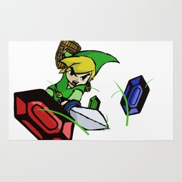 Cutting Grass is NOT a waste of time: Legend of Zelda Wind Waker Rug
