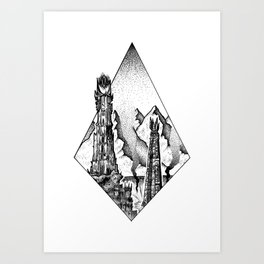 Two Towers Art Print