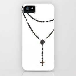 Wooden Rosary I iPhone Case