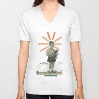 kim sy ok V-neck T-shirts featuring OK by Prints der Nederlanden
