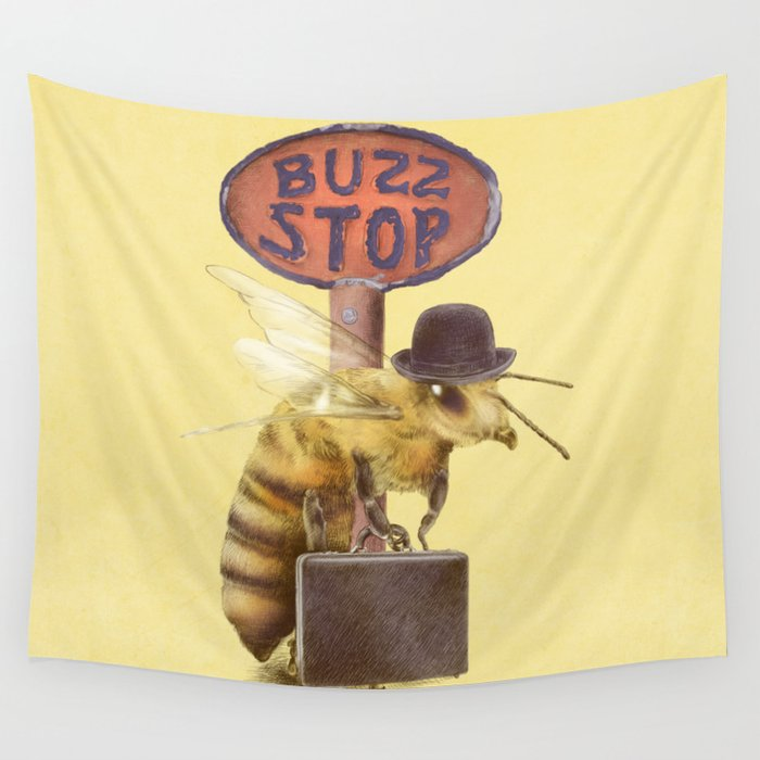 Worker Bee (colour option) Wall Tapestry