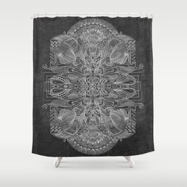 Etched Offering Shower Curtain
