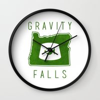 fez Wall Clocks featuring Gravity Falls - Grunkle Stan's Fez (White) by pondlifeforme