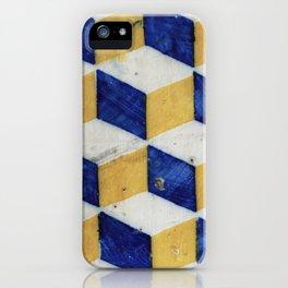 Portuguese tiles pattern iPhone Case