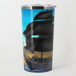 Pirate Ship at Sunset Travel Mug