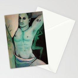 painting, art, illustration, man Stationery Cards