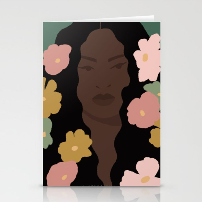 Flowers In Her Hair Stationery Cards