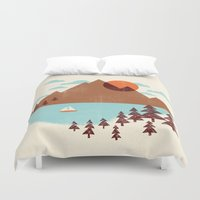 indian Duvet Covers featuring Indian Summer by Jenny Tiffany