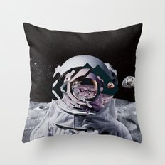 Spaceman oh spaceman, come rescue me (teal) Throw Pillow