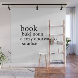 419 4 Book Definition Wall Mural