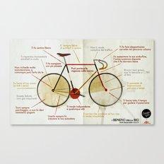 Bike benefit (ITA) Canvas Print