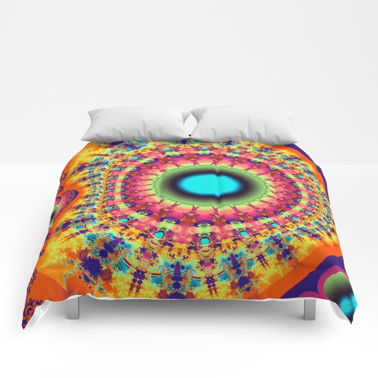 Colourful fantasy pattern Comforters
