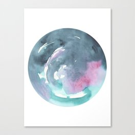 Blue Whirled Canvas Print