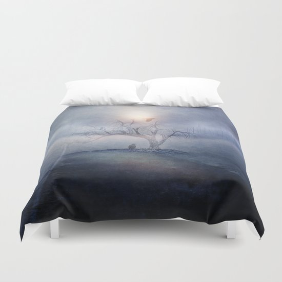 Blue sunrise Duvet Cover