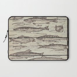 father's day fisherman gifts whitewashed wood lakehouse freshwater fish Laptop Sleeve