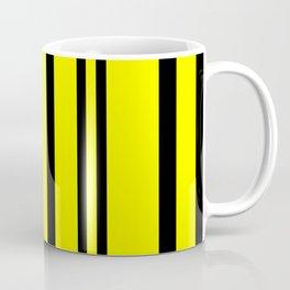 NEON YELLOW AND BLACK THIN AND THICK STRIPES Coffee Mug