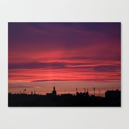 A Rooftop Glance Canvas Print