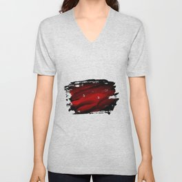 paint brush strokes Unisex V-Neck